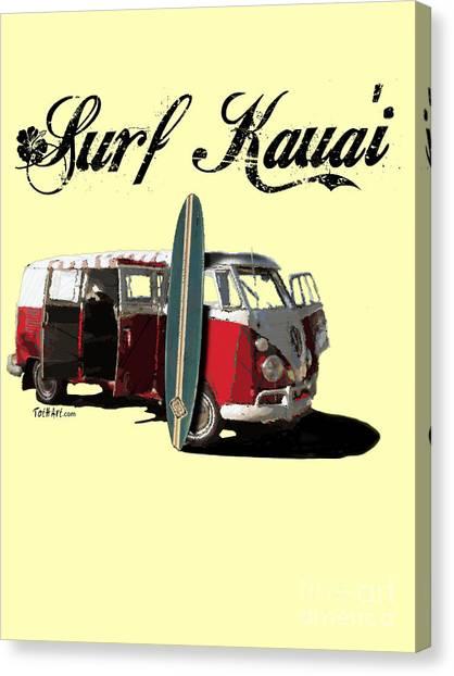 Surf Kauai Canvas Print