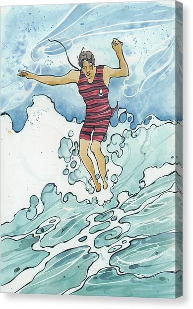 Surf Leap Canvas Print