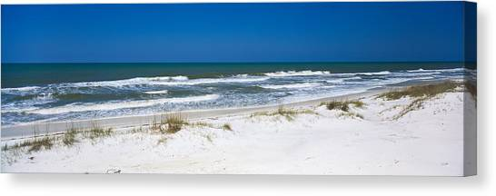 Florida State Canvas Print - Surf On The Beach, St. Joseph Peninsula by Panoramic Images