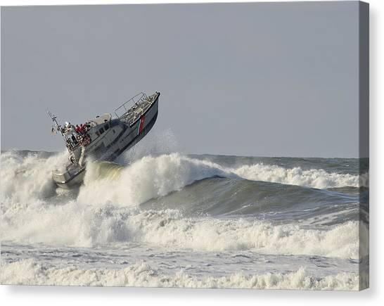 Surf Rescue Boat Canvas Print