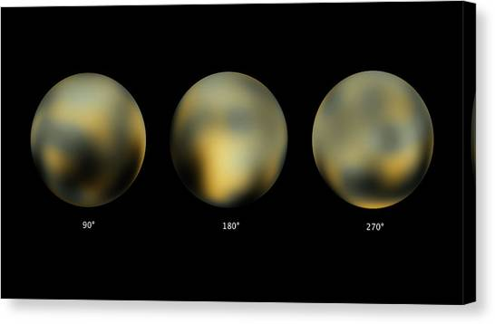 Pluto Canvas Print - Surface Of Pluto by Nasa/esa/stsci/science Photo Library