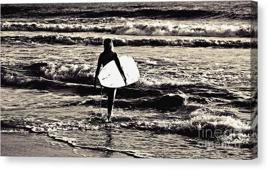 Surfer Girl Canvas Print by Scott Allison