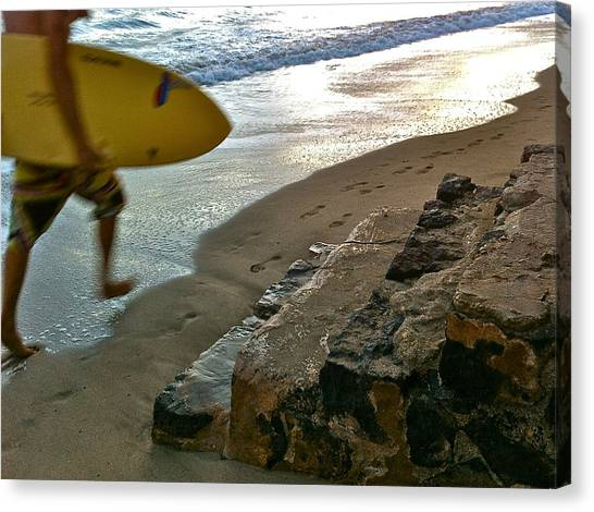 Surfer In Motion Canvas Print