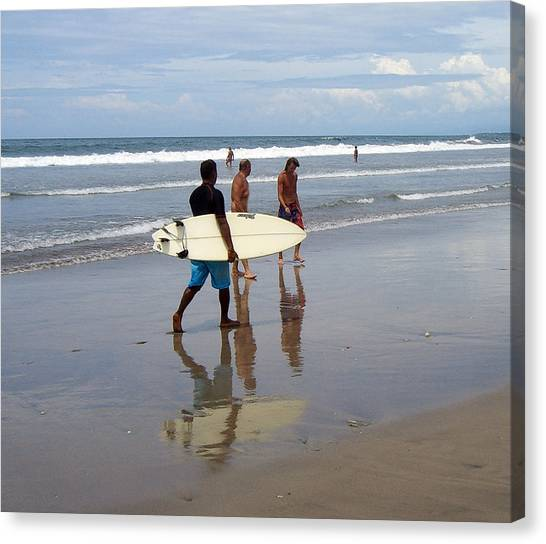 Surfer Reflection Canvas Print by Jack Adams