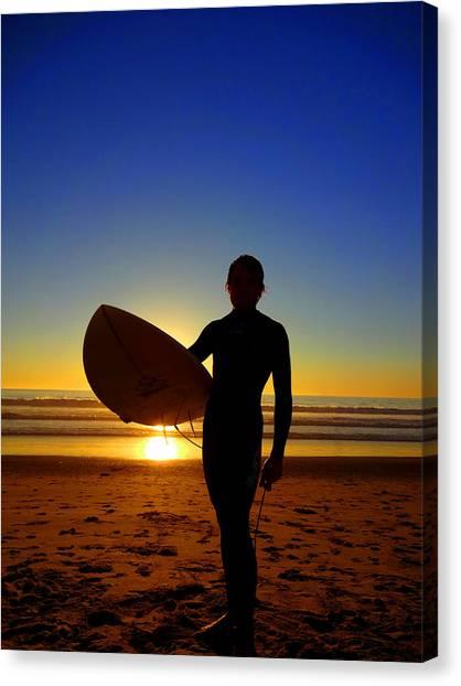 Surfer Silhouette Canvas Print