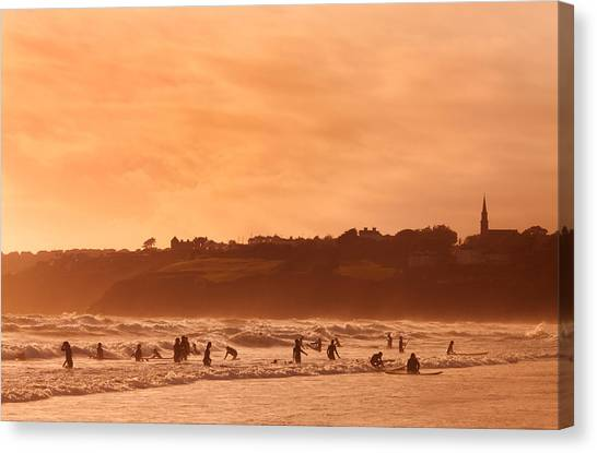 Waterford Canvas Print - Surfers In Tramore Bay, County by Panoramic Images