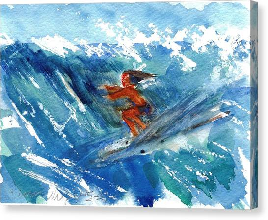 Surfing I Canvas Print by Ramona Wright