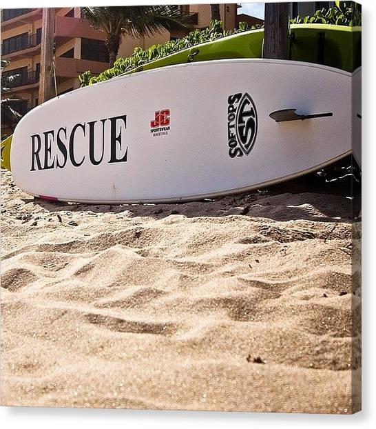 Lifeguard Canvas Print - surfing Is Such An Amazing Concept by Melinda Ledsome