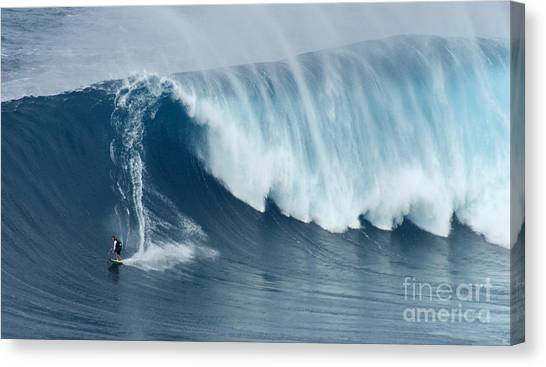 Surfing Jaws 5 Canvas Print