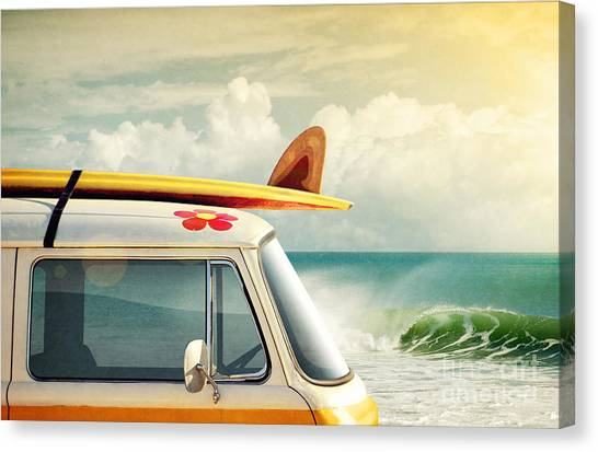 Surfboard Canvas Print - Surfing Way Of Life by Carlos Caetano
