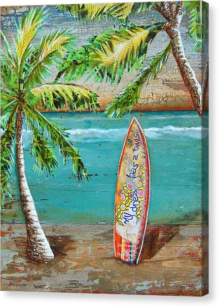 Surfboard Canvas Print - Surf's Up by Danny Phillips