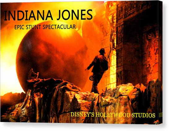 Raiders Of The Lost Ark Canvas Print - Surprise Indy by David Lee Thompson