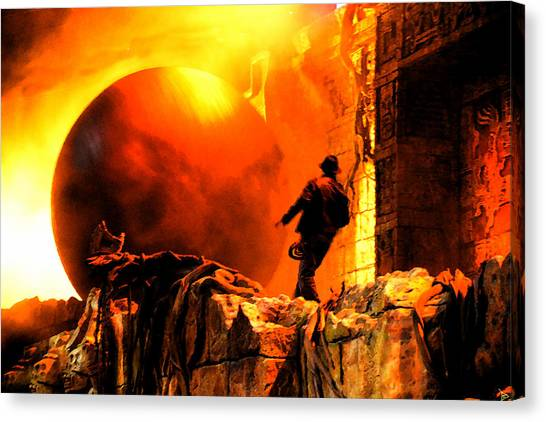 Raiders Of The Lost Ark Canvas Print - Surprise Indy Original Work by David Lee Thompson