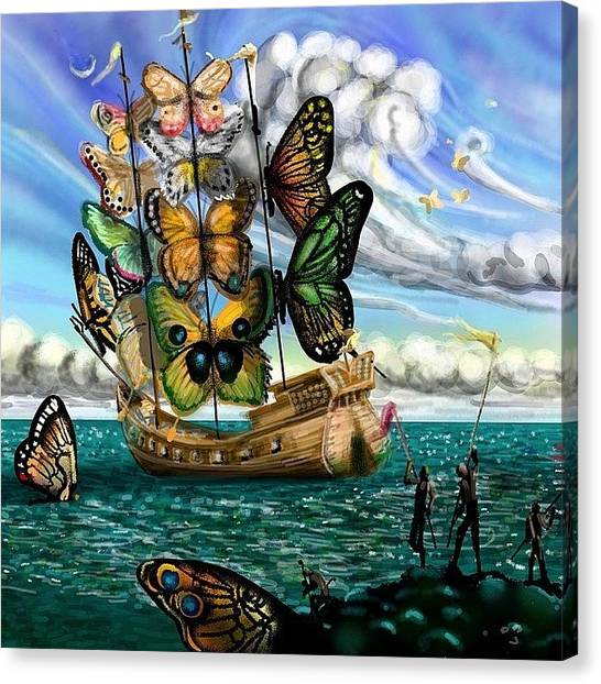 Surrealism Canvas Print - #surreal For #monkeysidebars . My by David Burles