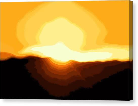 Surreal Mountain Sunset Canvas Print