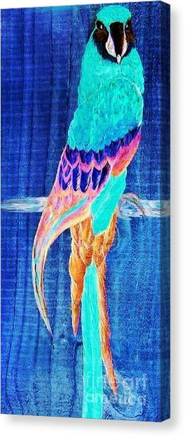 Parrot Canvas Print - Surreal Parrot by Eloise Schneider