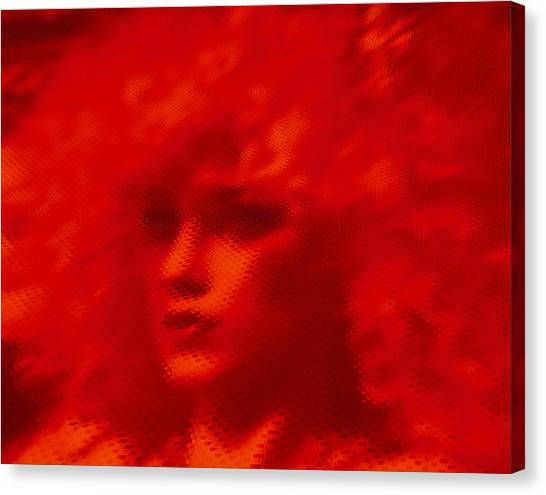 Surreal Redhead Canvas Print by Susan Elizabeth Dalton