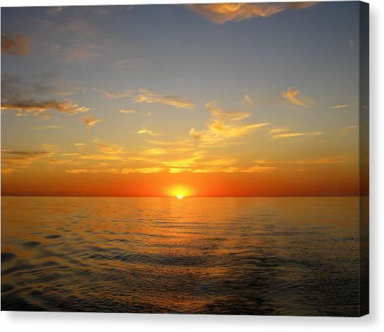 Surreal Sunrise At Sea Canvas Print