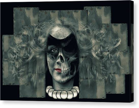 Skeletons Canvas Print - Surrealism by Natalia Baras