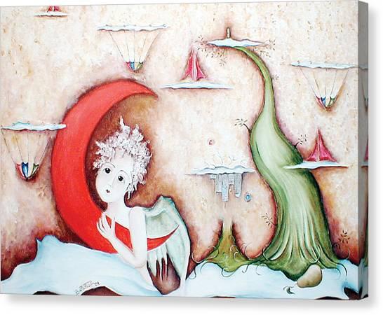 Surrealismo Interior Canvas Print by Belen Jauregui