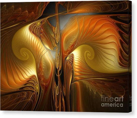 Surrealistic Landscape-fractal Design Canvas Print