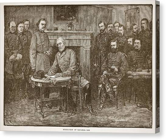 Submission Canvas Print - Surrender Of General Lee by Alfred R Waud