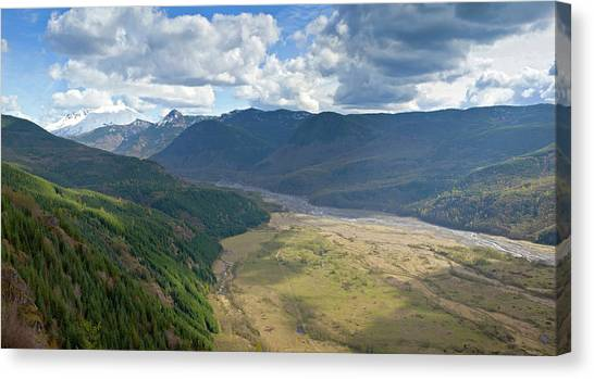 Mount St. Helens Canvas Print - Surrounding Landscape And Mountains by Panoramic Images