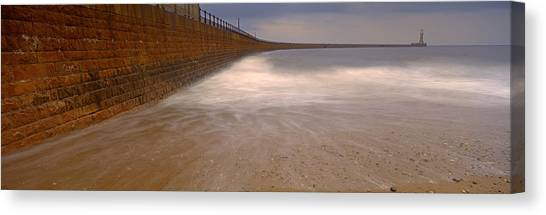 Sunderland Canvas Print - Surrounding Wall Along The Sea, Roker by Panoramic Images