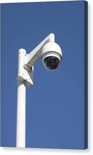 Big Brother Canvas Print - Surveillance Cctv Camera by Alex Bartel