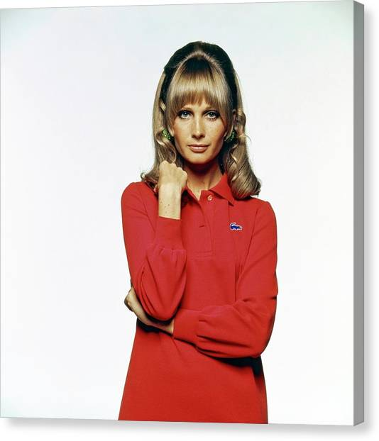 Susan Murray Wearing A Lacoste Dress Canvas Print by Bert Stern