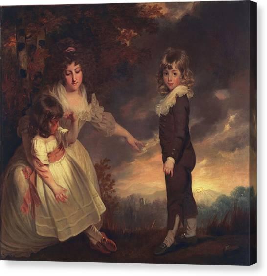 Big Sister Canvas Print - Susannah, Philip Lake, And Maria Godsal by John Hoppner