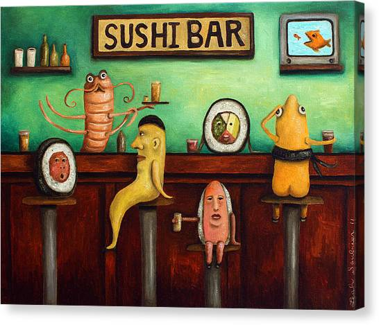Sushi Bar Improved Image Canvas Print