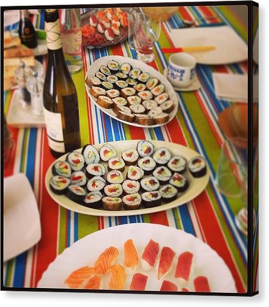 Tuna Canvas Print - Sushi By My Own. #homemade #sushi by Jordi Asensio