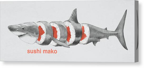 Sharks Canvas Print - Sushi Mako by Eric Fan