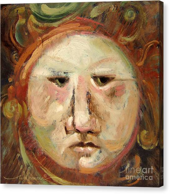 Suspicious Moonface Canvas Print