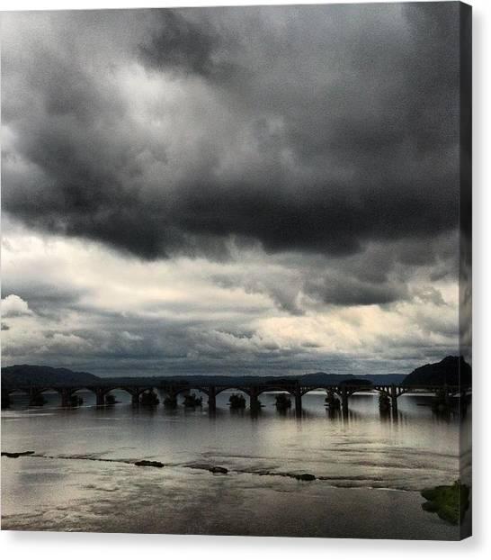 Susquehanna River Bridge Canvas Print