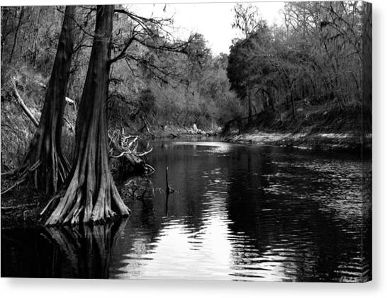 Suwannee River Black And White Canvas Print