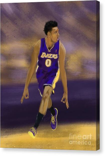 Three Pointer Canvas Print - Swaggy 3 by Jeremy Nash