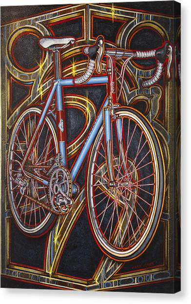 Swallow Bespoke Bicycle Canvas Print
