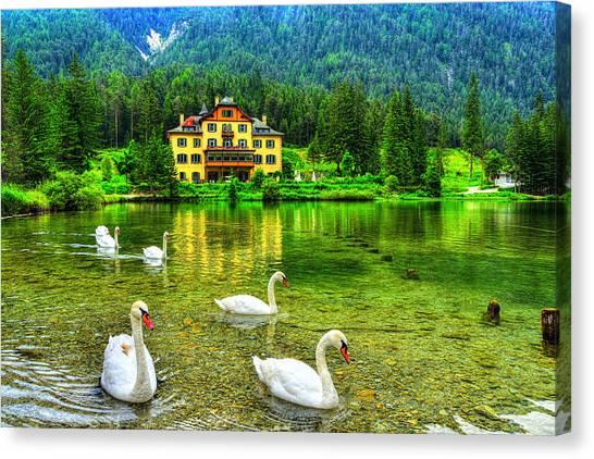 Dolomites Canvas Print - Swam Lake by Midori Chan
