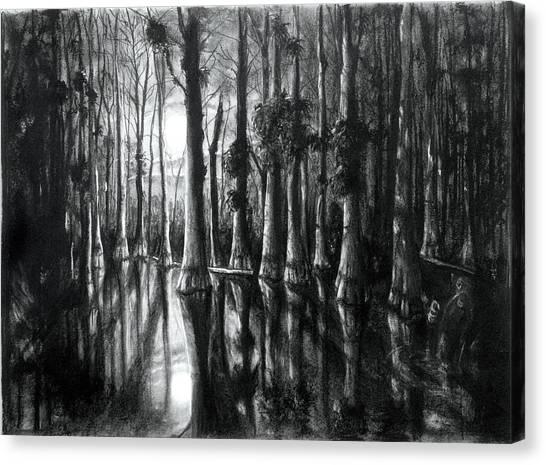 Swamp At Night Canvas Print