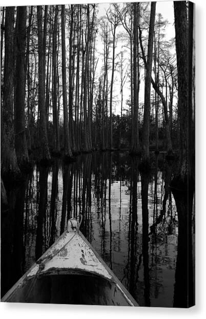 Swamp Boat Canvas Print