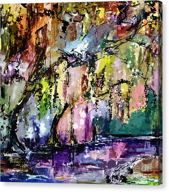 Okefenokee Canvas Print - Swamp Magic Abstract by Ginette Callaway