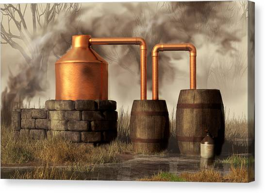 Rum Canvas Print - Swamp Moonshine Still by Daniel Eskridge