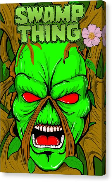 Swamp Thing Canvas Print by Gary Niles