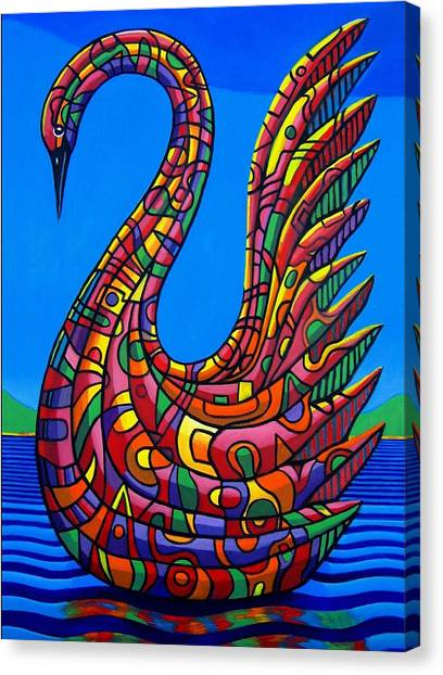 Swan Abstract Canvas Print