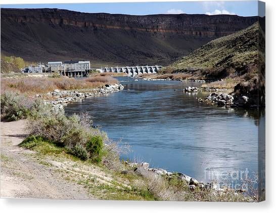 945a Swan Falls Dam Snake River Birds Of Prey Area Canvas Print