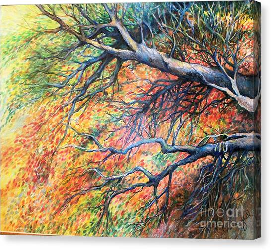 Sway Dancing Trees Canvas Print