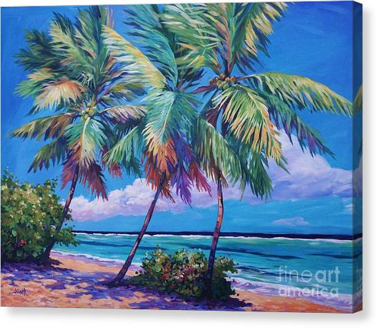 Rum Canvas Print - Swaying Palms  by John Clark