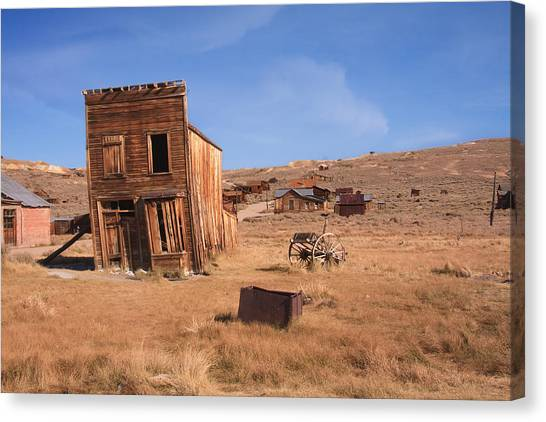 Swazey Hotel Bodie Ghost Town Canvas Print